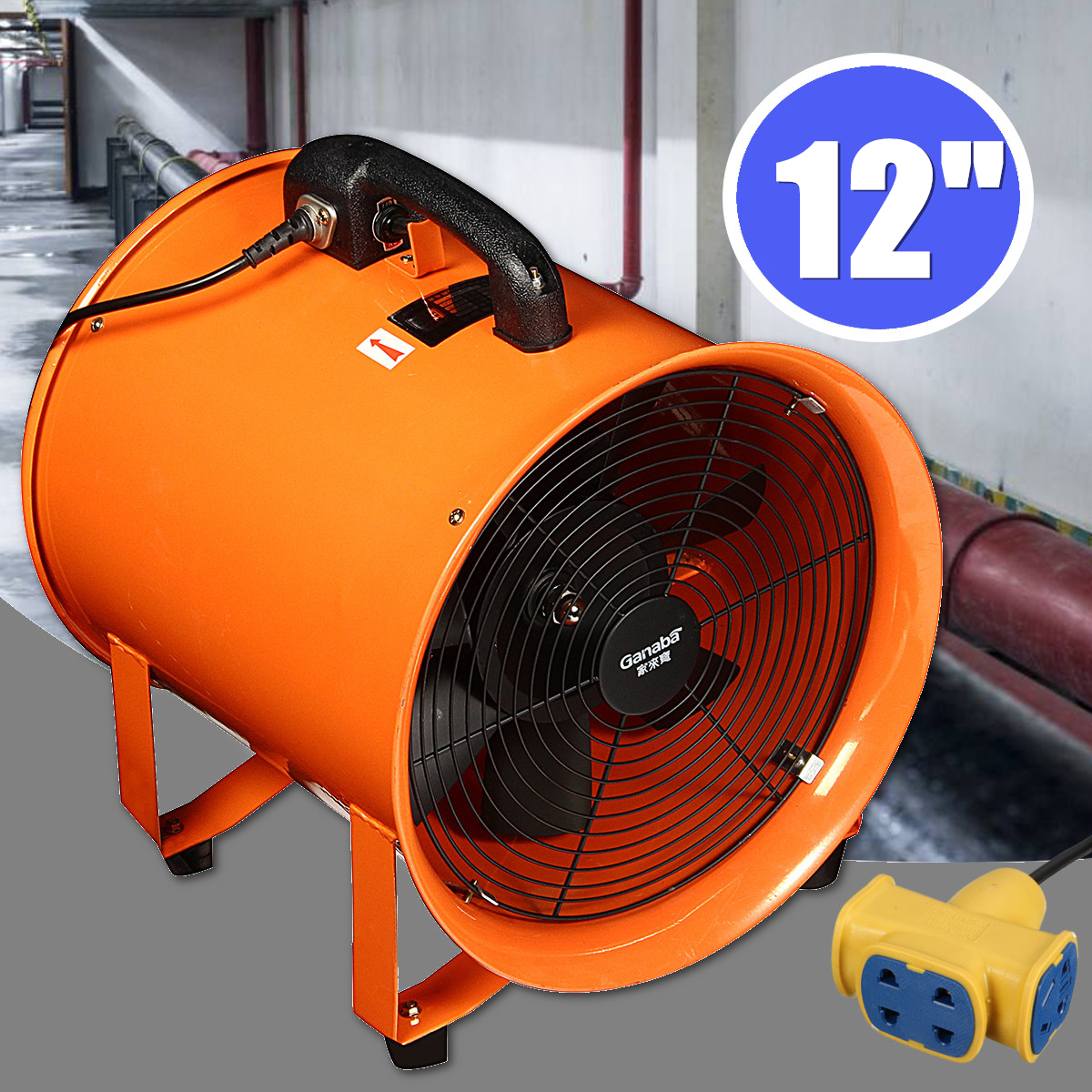 Portable Extractor Fan 12 Industrial Portable Extractor Fan Ventilator Blower Garage