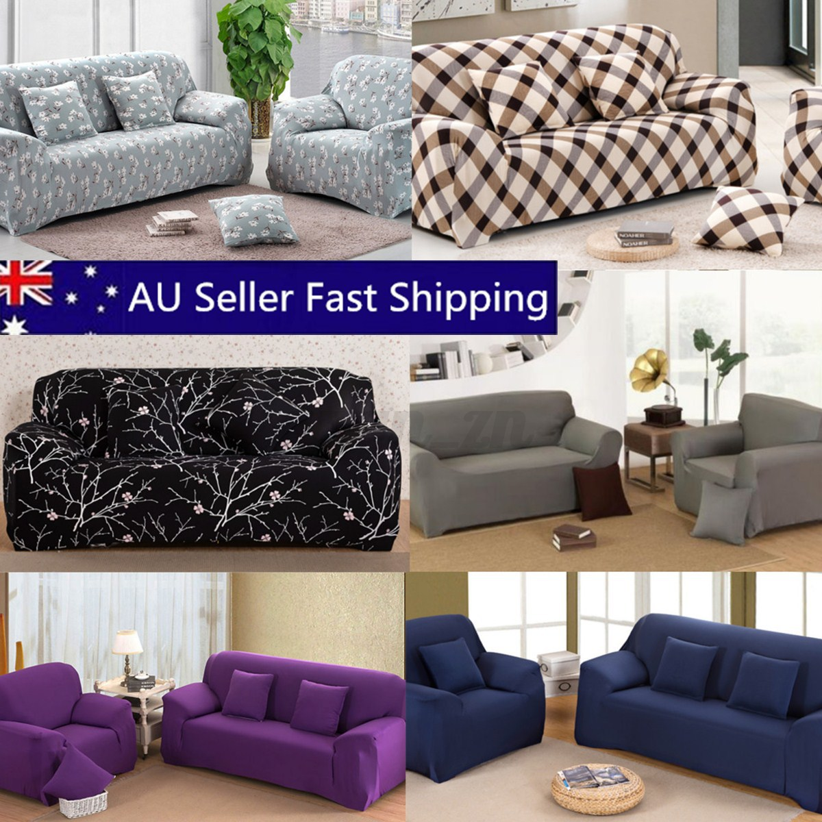Sofa Set Covers For L Shape 1 2 3 4 Seater L Shape Stretch Chair Loveseat Sofa Couch