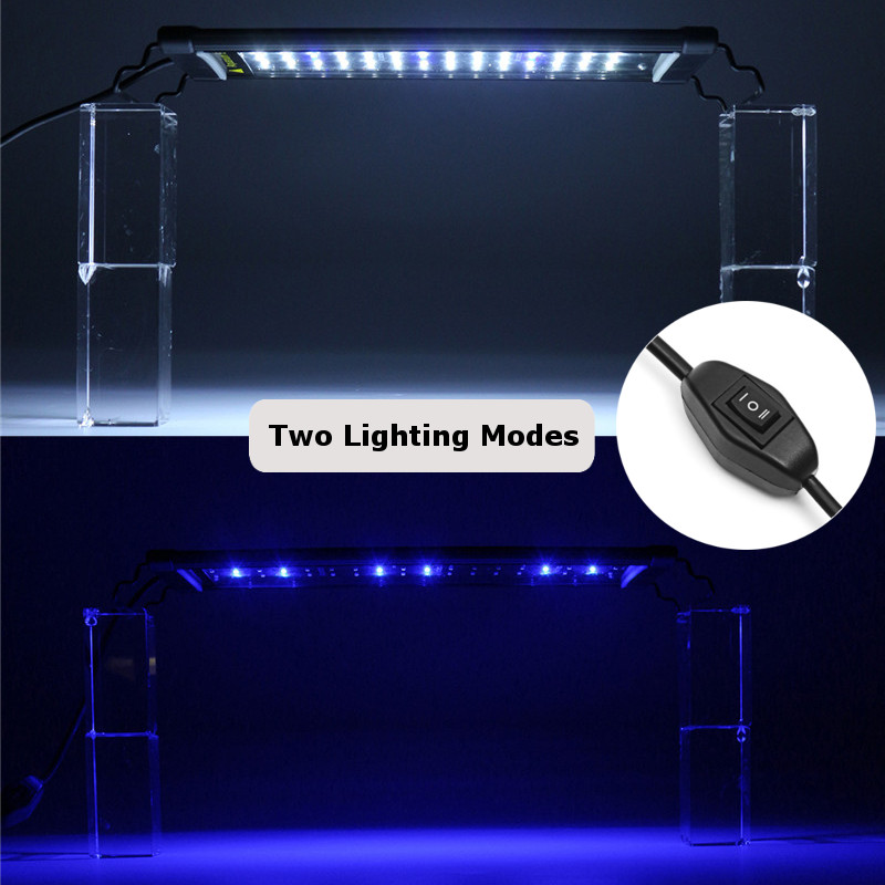 éclairage Led Aquarium 120 Cm 35-119cm 5-24w 2835led Aquarium Fish Tank Lampe Bar
