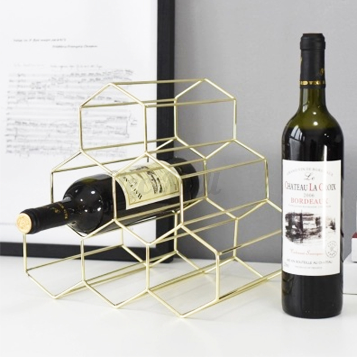 Wine Holder Stand Details About Modern Display Shelf 6 Bottle Wine Rack Metal Wine Bottles Holder Storage Stand
