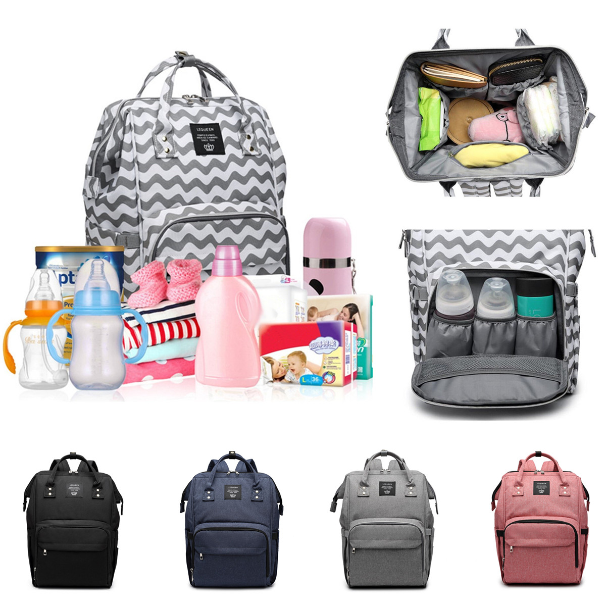Travel Rucksack Details About Waterproof Large Baby Nappy Changing Bag Mummy Diaper Backpack Travel Rucksack