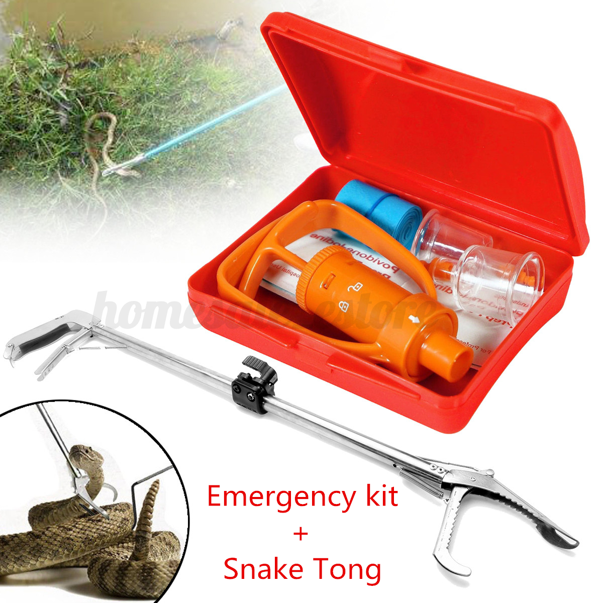 Tong Tool Boxes 39 39 39 Reptile Snake Tongs Grabber Catcher 43 First Aid Venom