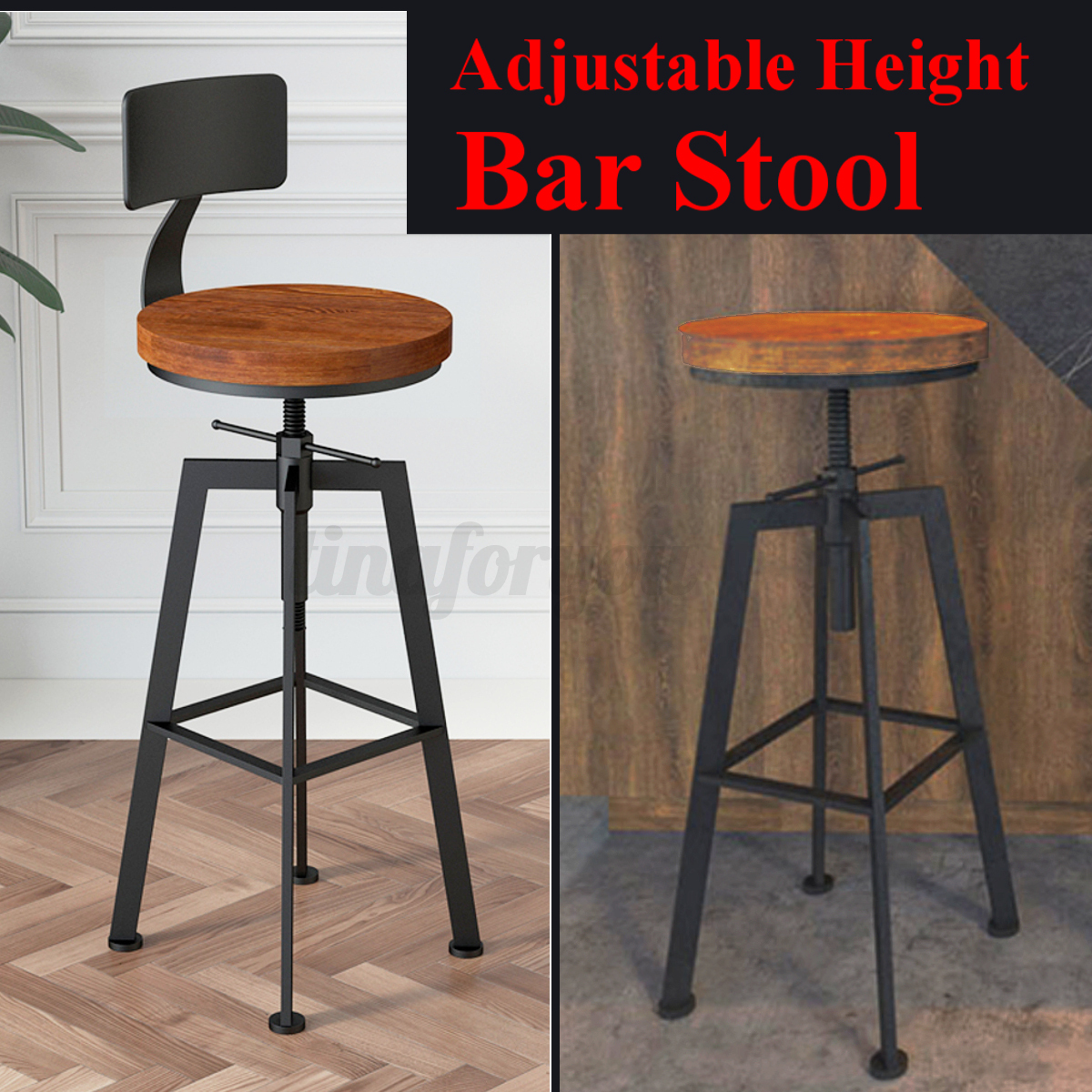 Industrial Bar Stools With Backs Vintage Industrial Bar Stool Metal Adjustable Height