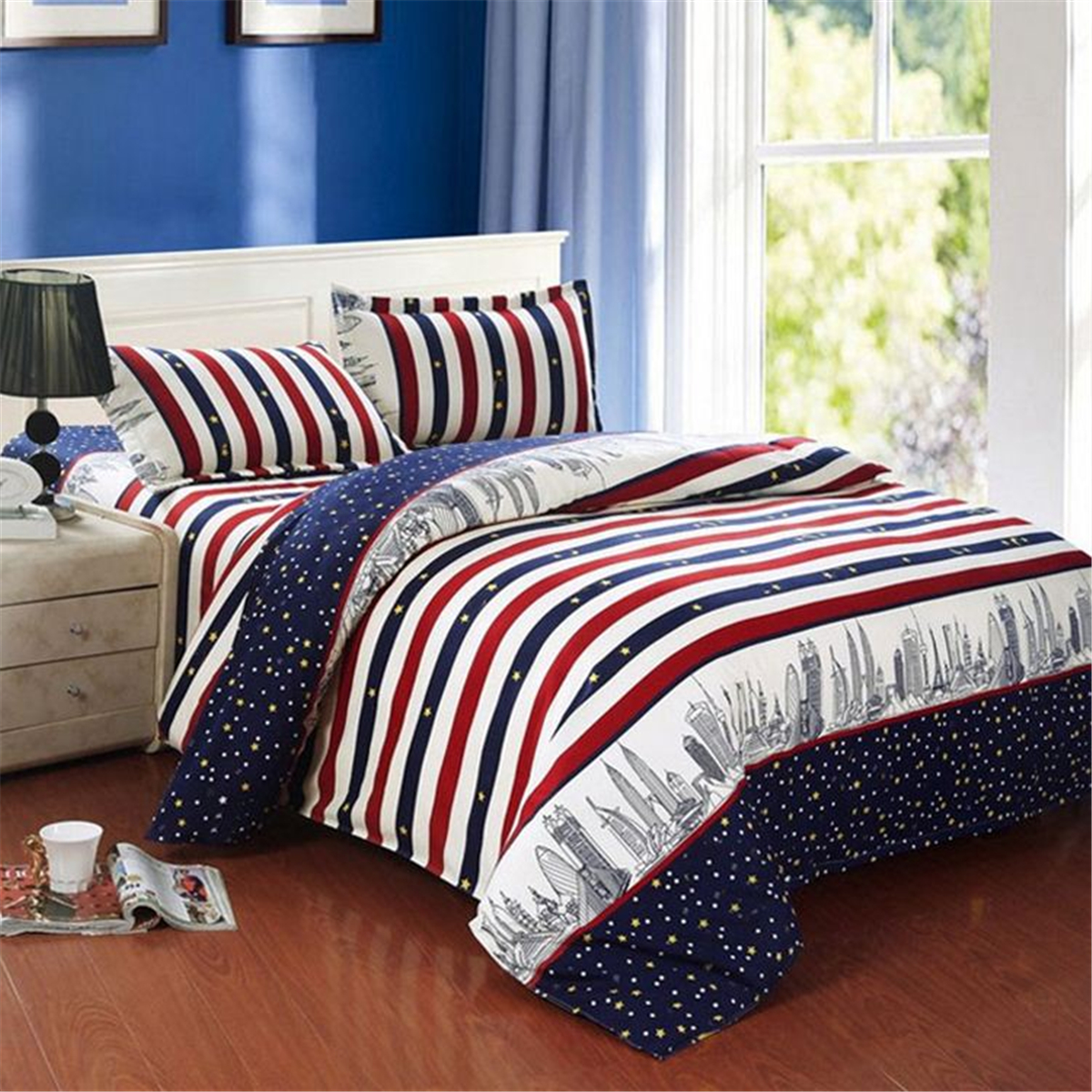 King Quilt Size Duvet Quilt Cover Bedding Set Single Double Queen King