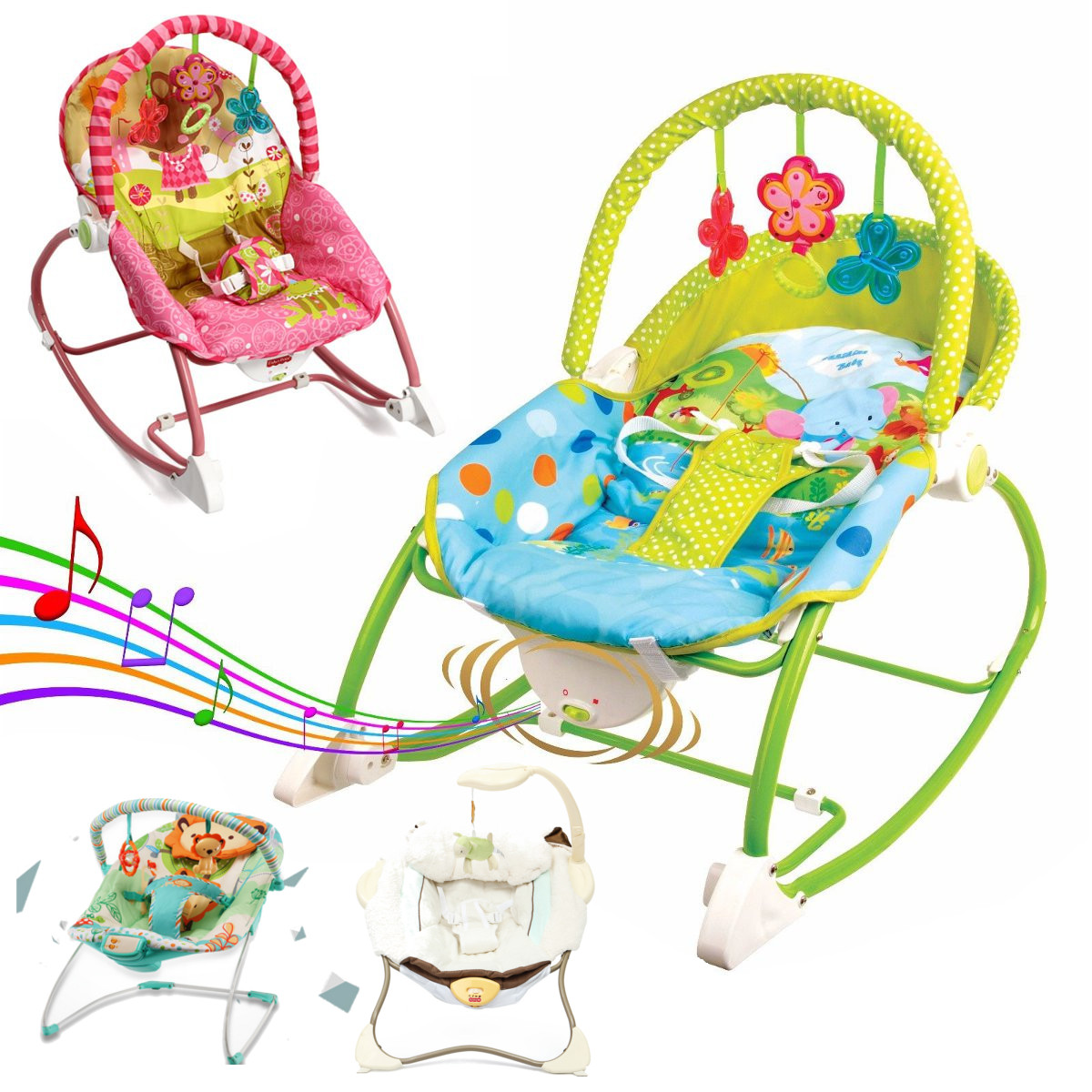 Bouncer Baby Details About Baby Swing Infant Cradle Electric Rocker Bouncer Vibration Chair Toys Music Seat