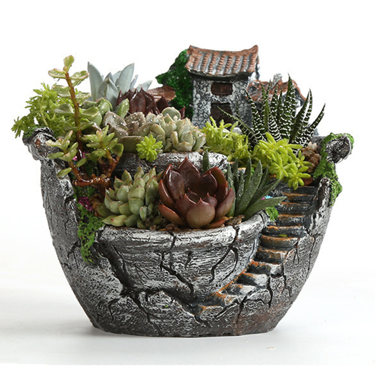 Plant Pot Sale Garden Resin Flower Herb Cactus Succulent Plant Pot Box