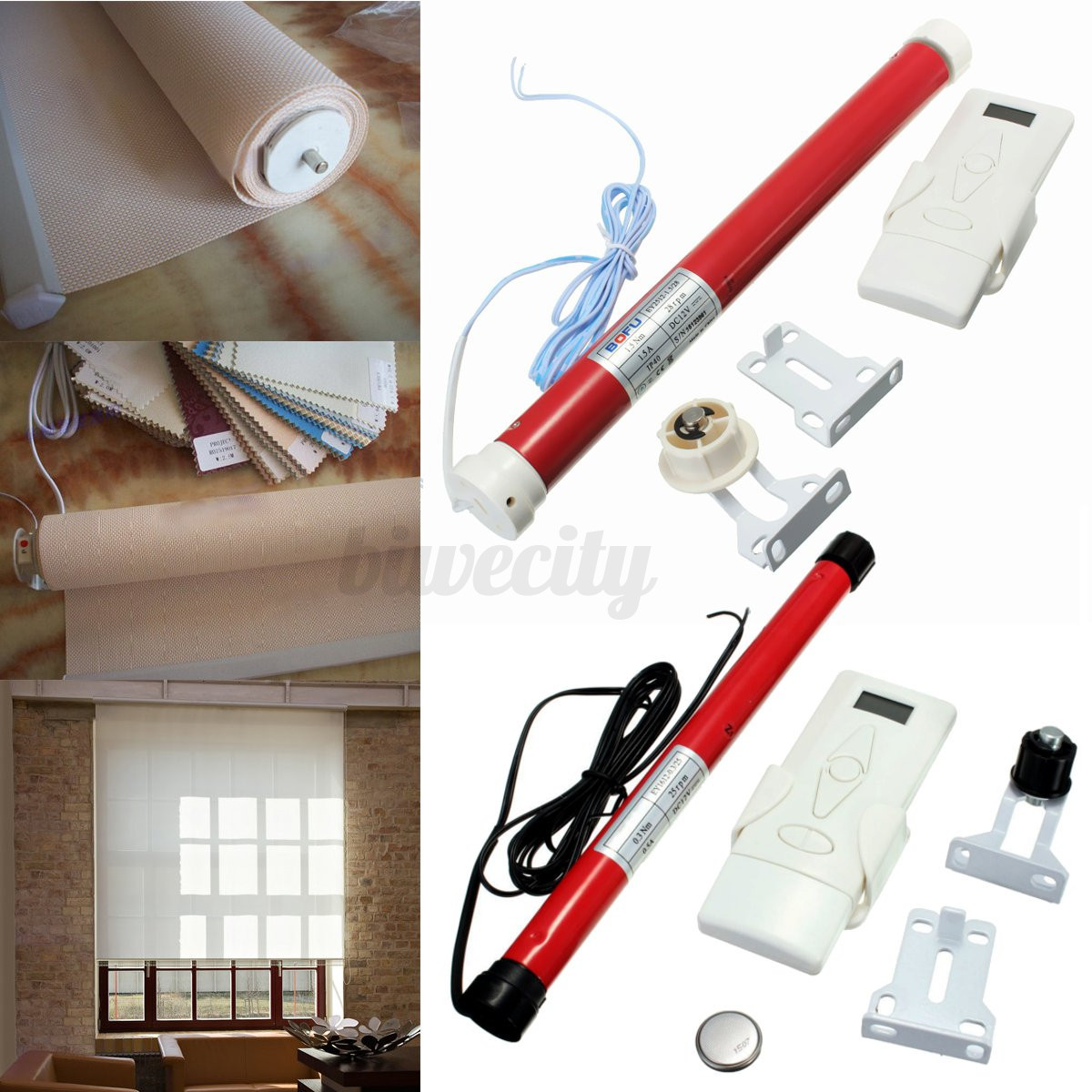 Diy Automatic Curtains 2 Size 12v Diy Electric Roller Blind Shade Tubular Motor