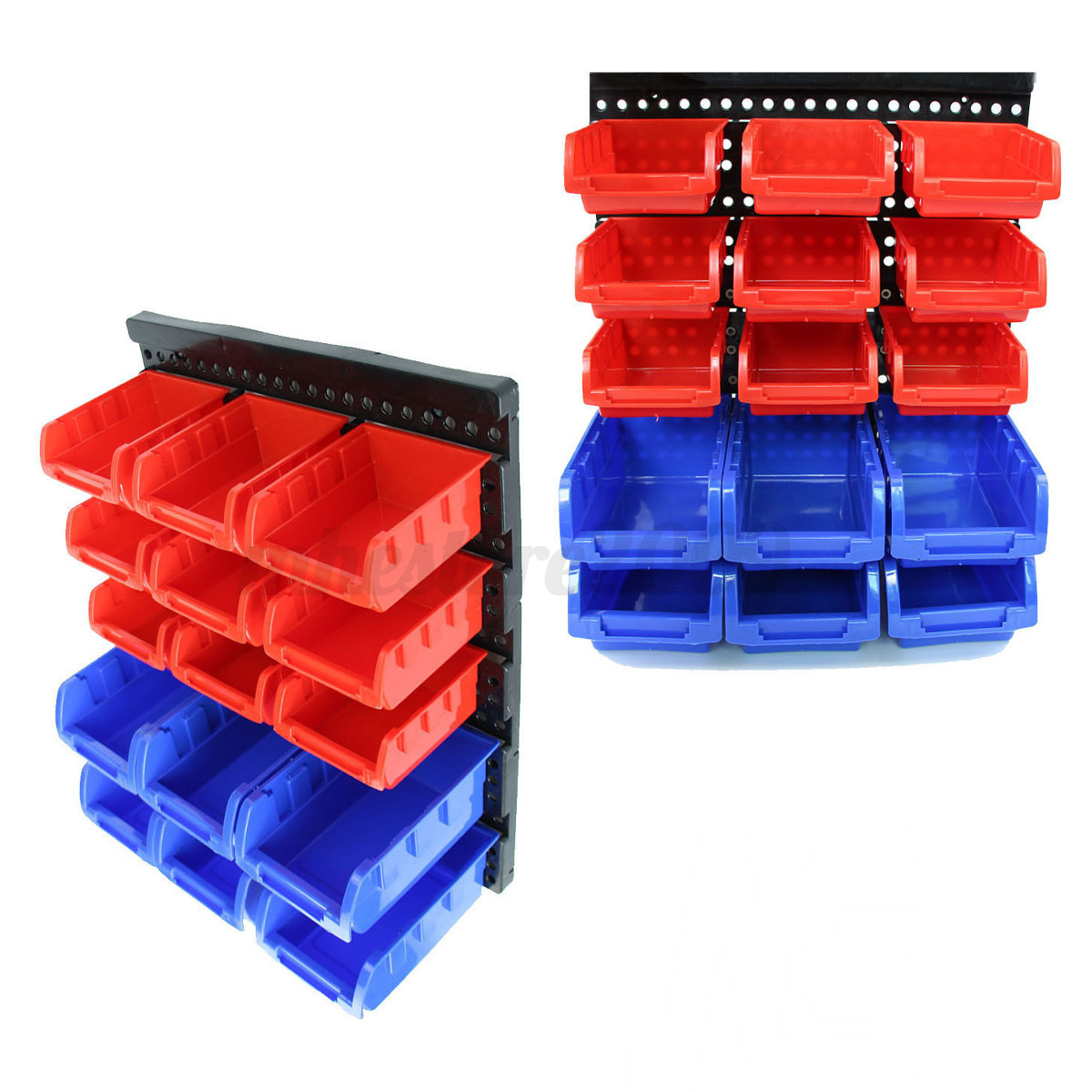 Garage Storage Boxes Plastic Rack Wall Mounted Box Drawer Storage Organizer