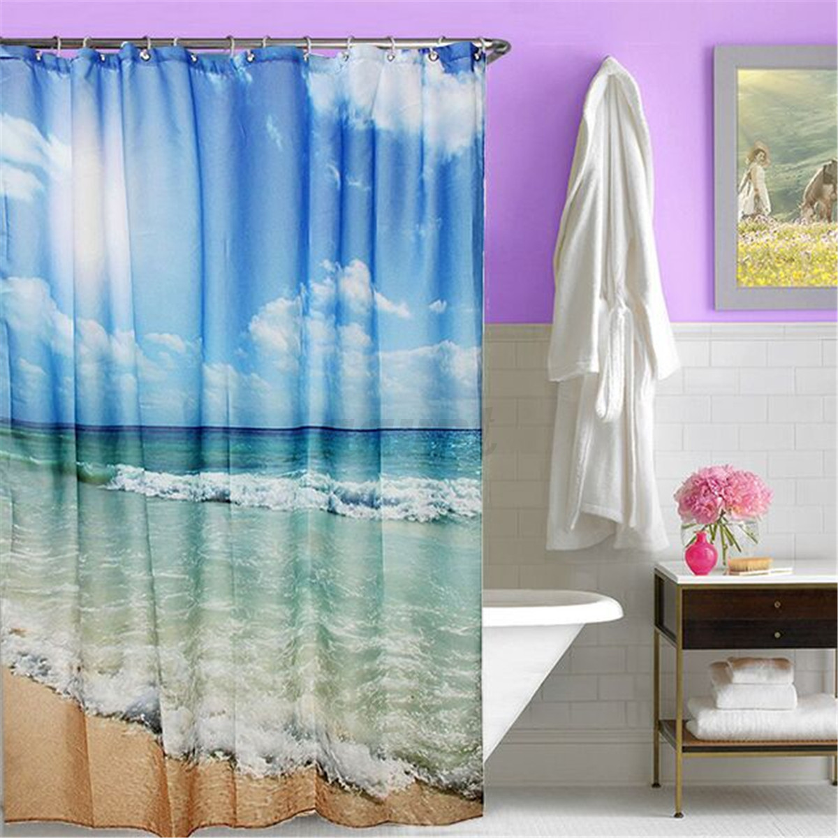 Bathroom Shower Curtains And Accessories Various Shower Curtain Waterproof Polyester Fabric