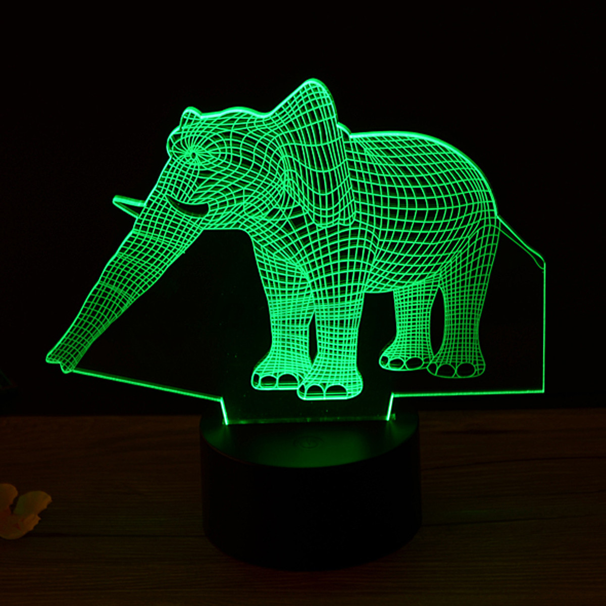Elephant Night Light 3d Animal Elephant Night Light Led Desk Lamp Touch 7 Color