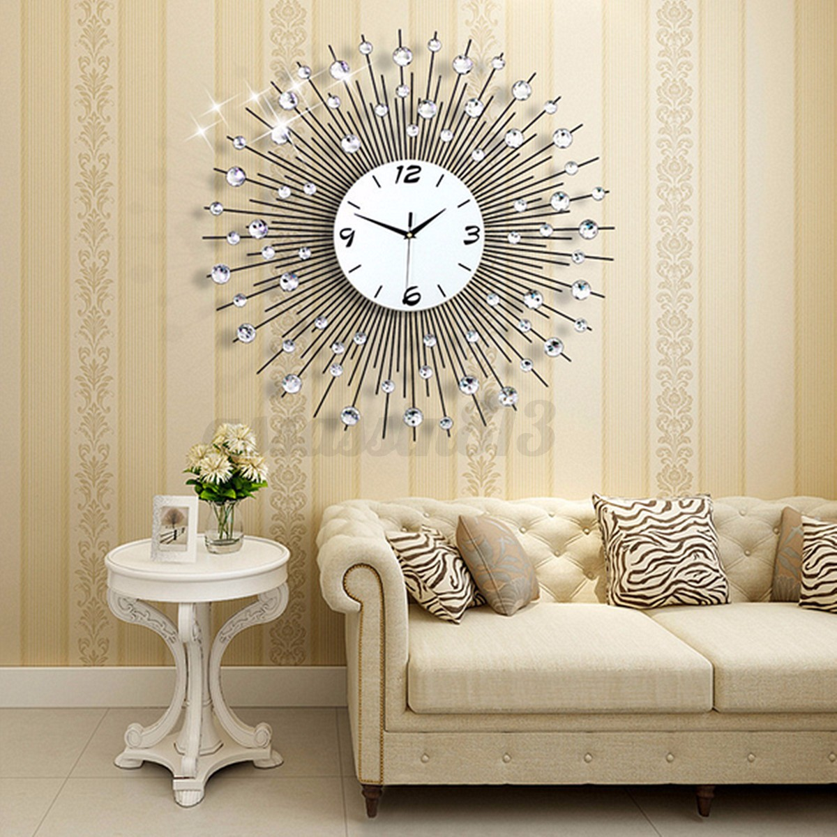 Where To Hang Wall Clock In Living Room Luxury Scenic Iron Art Metal Living Room Round Diamond