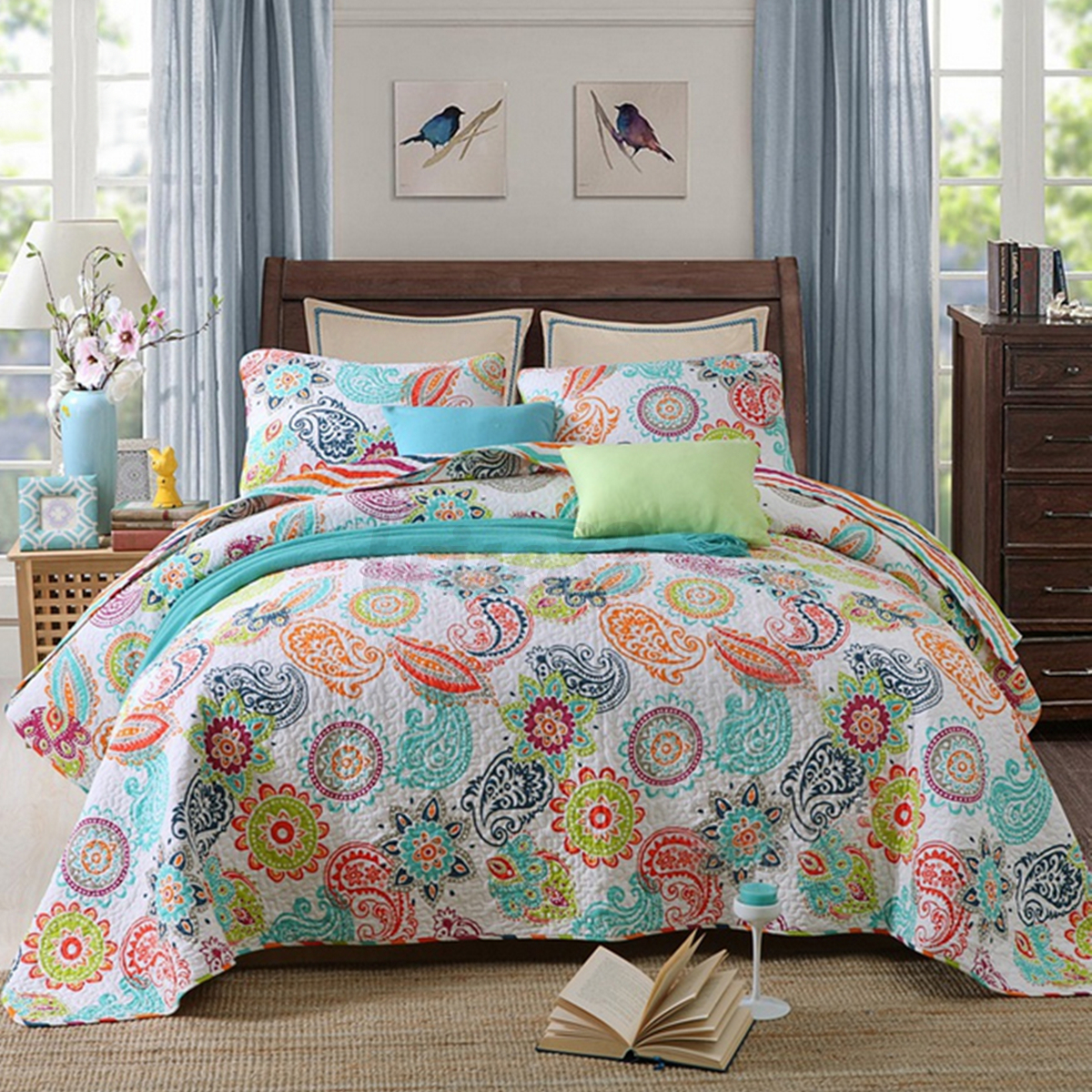 King Size Coverlet Australia 3pcs Cotton Quilted Coverlet Bedspread Patchwork Queen