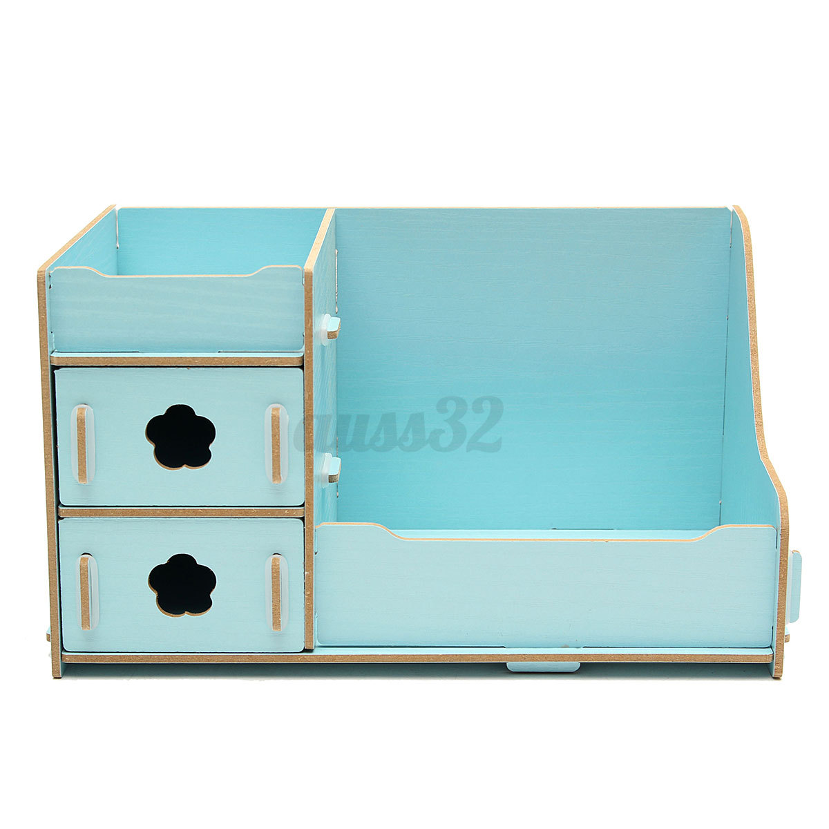 Cute Desktop Organizers Wooden Storage Box Cosmetics Multifunctional Diy Makeup