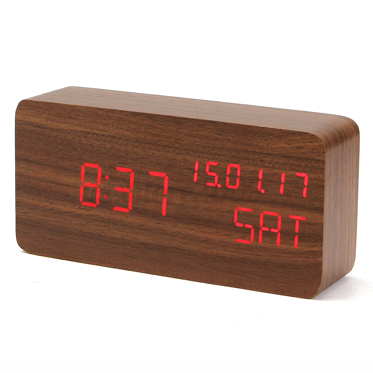 Modern Digital Clocks Modern Multcolor Wooden Digital Led Alarm Clock Calendar