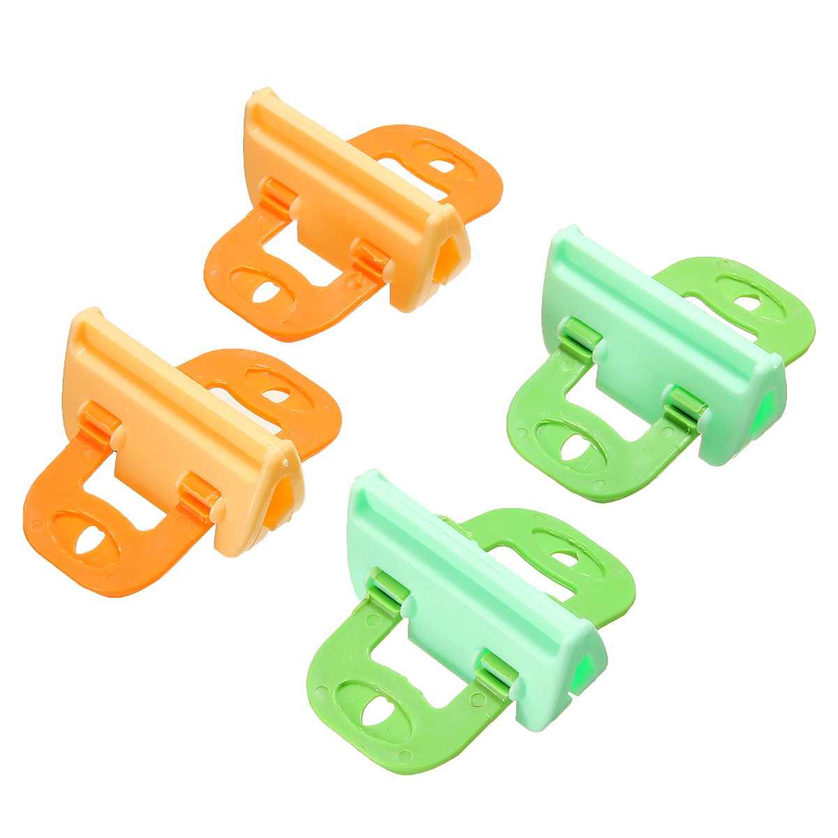 Clip Seal Bags 4pcs Kitchen Storage Food Snack Seal Sealing Bag Clips