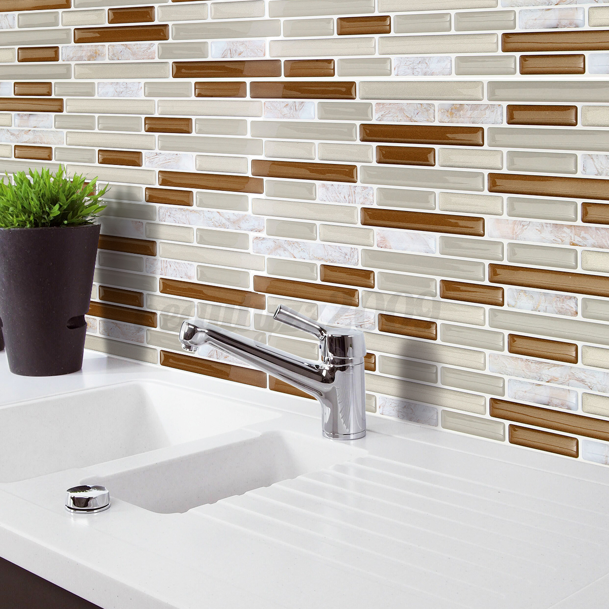 Carrelage Effet Brique 3d Brick Effect Wall Sticker Tile Brick Self Adhesive