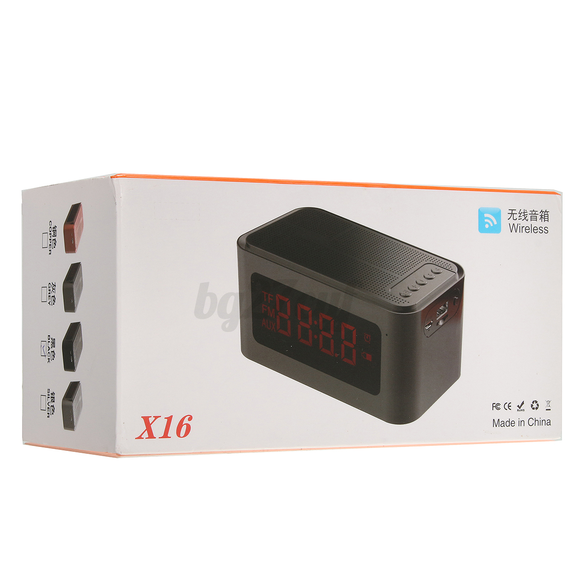 Small Led Alarm Clock Led Bluetooth Digital Alarm Clock Mini Stereo Speaker Fm