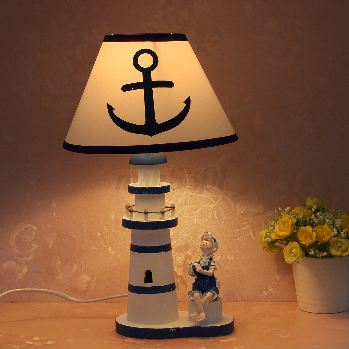 Study Table Light Nautical Lighthouse Desk Lamp Light Study Light Anchor