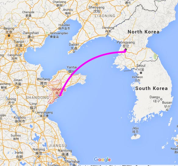 map_Qingdao North Korea
