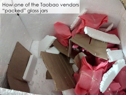 taobao vendor packing