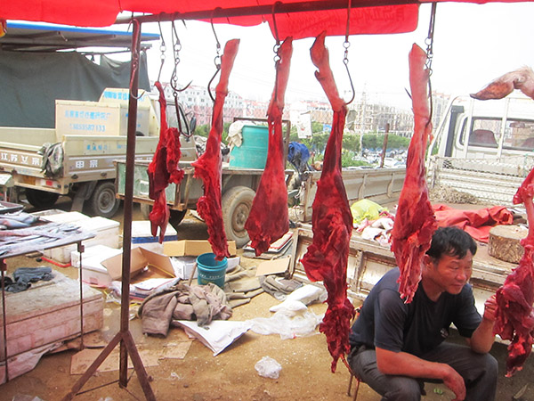 Haiyang veggie market Qingdao