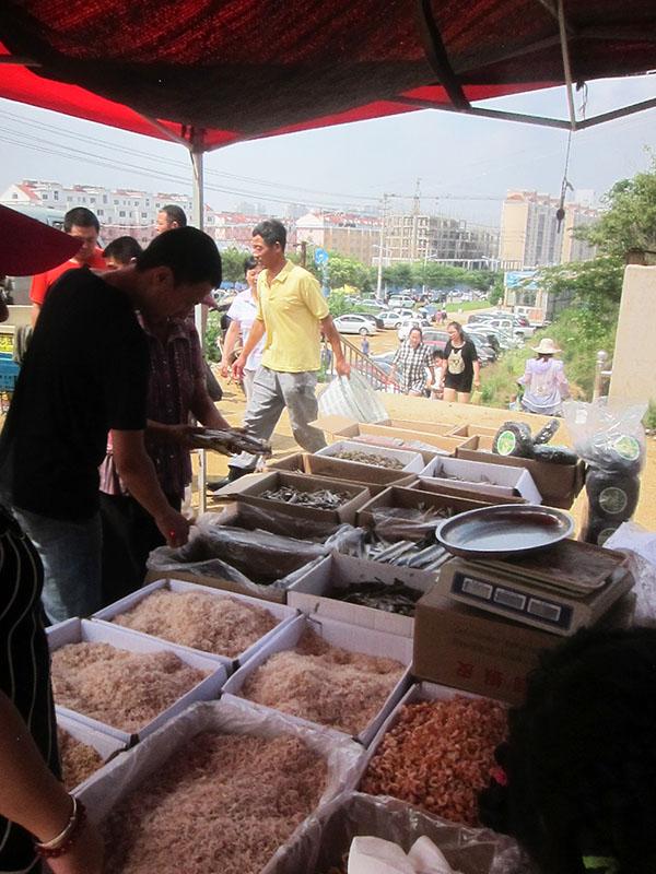 Haiyang veggie market Qingdao Shandong