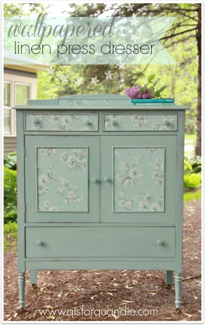 wallpapered linen press dresser - Shadow, Heart, and Soul of the Black Rose