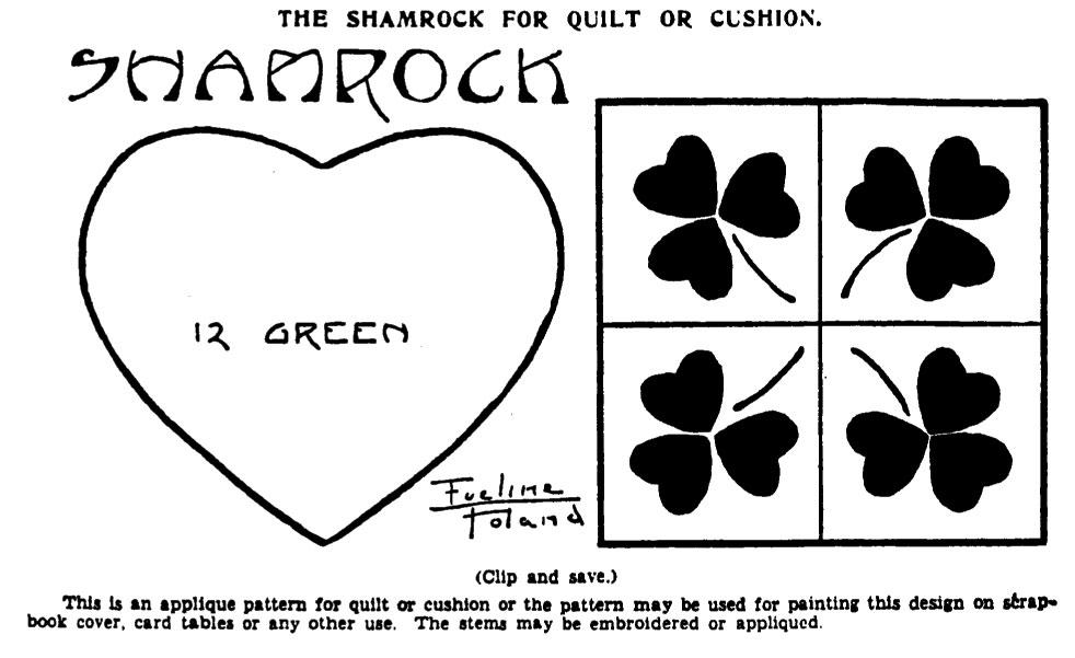 Michele Bilyeu Creates *With Heart and Hands* St Patricku0027s Day - shamrock template