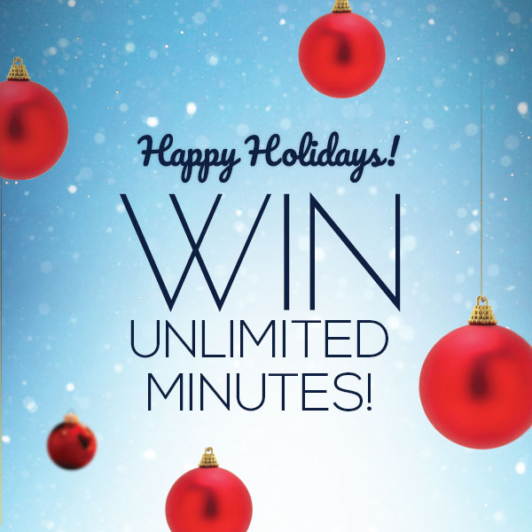 Happy Holidays! Win a Month of UNLIMITED FREE Minutes! - free images happy holidays
