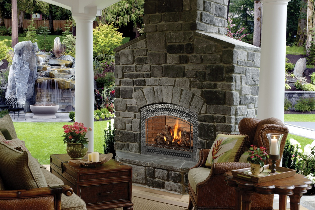 Backyard Fireplace Designs Patio Fireplace 3117