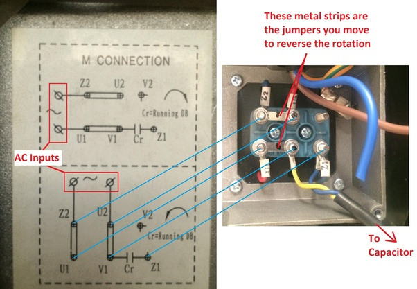 110 Volt Wiring Diagrams How To Reverse The Rotation Of Single Phase 220v Motor Quora