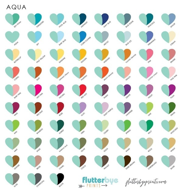 What Color Goes With Teal What Are Some Colors That Go With Aqua? - Quora