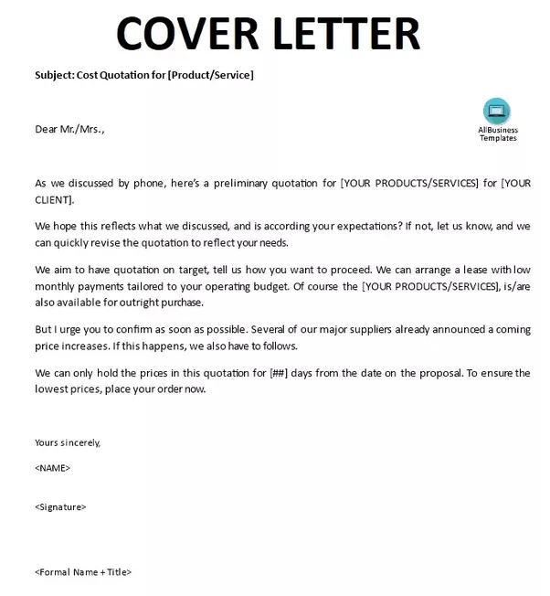 how tomake a cover letter
