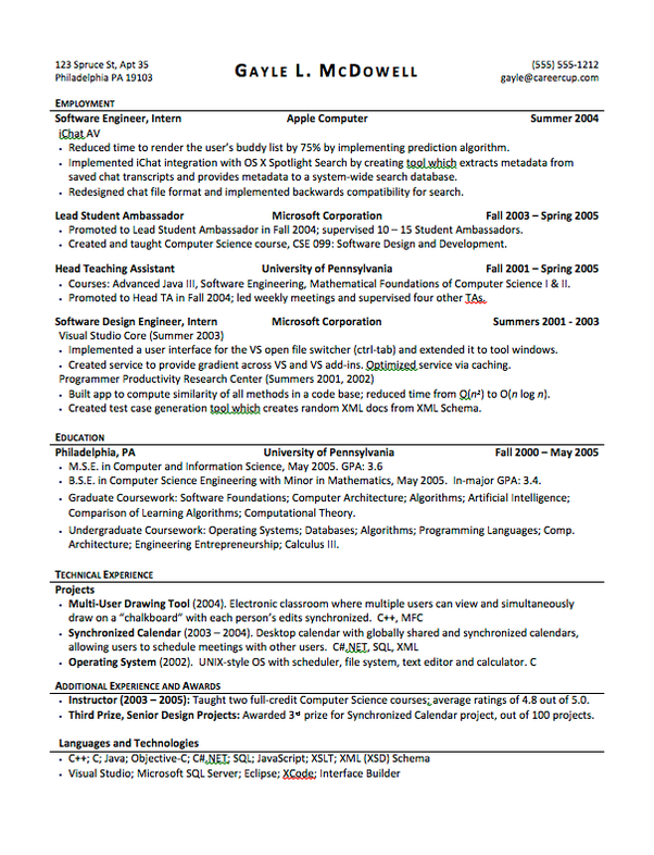 resume education on top or bottom
