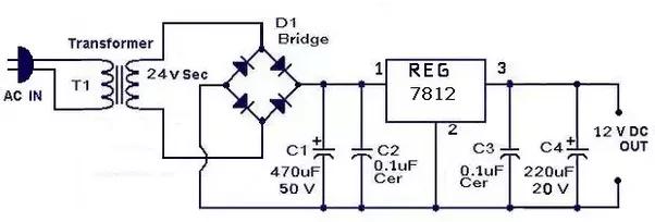 12v ac transformer wiring additionally 12 volt dc wiring circuit