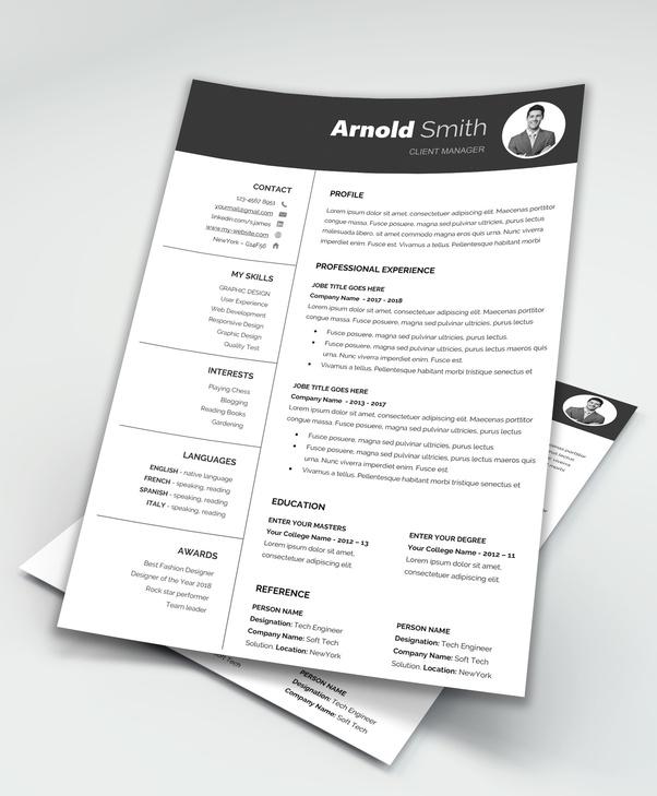 free resume templates download quora