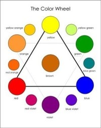 What colours mix to make purple?