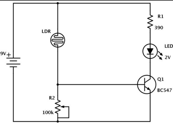 circuit diagram with ammeter and voltmeter