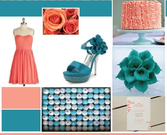 What Color Goes With Teal What Are Colors That Go With Coral? - Quora
