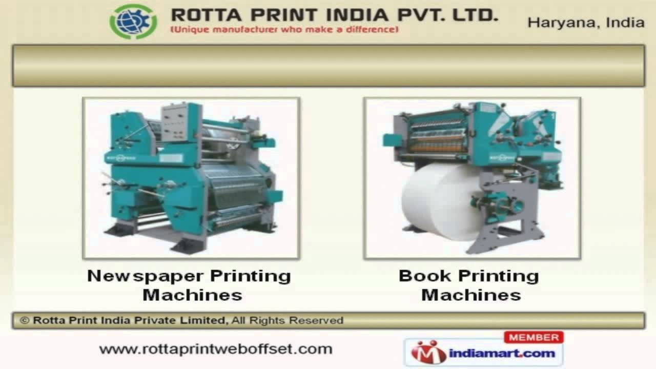 Web Offset Printing Machine How Does A Newspaper Printing Press Work Quora