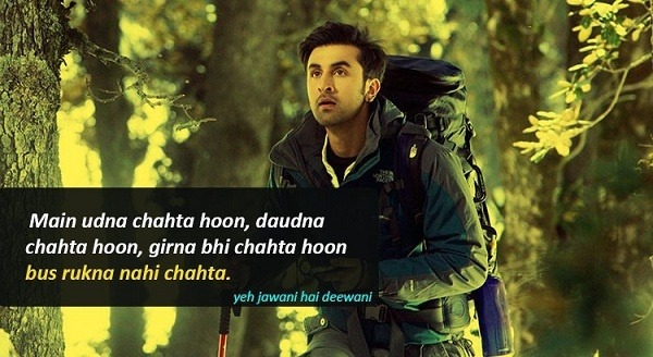 Ae Dil Hai Mushkil Wallpaper With Quotes Which Are Famous Dialogues Of Yeh Jawani Hai Deewani