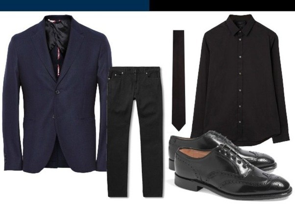 Does A Navy Jacket Look Good With Black Pants Quora