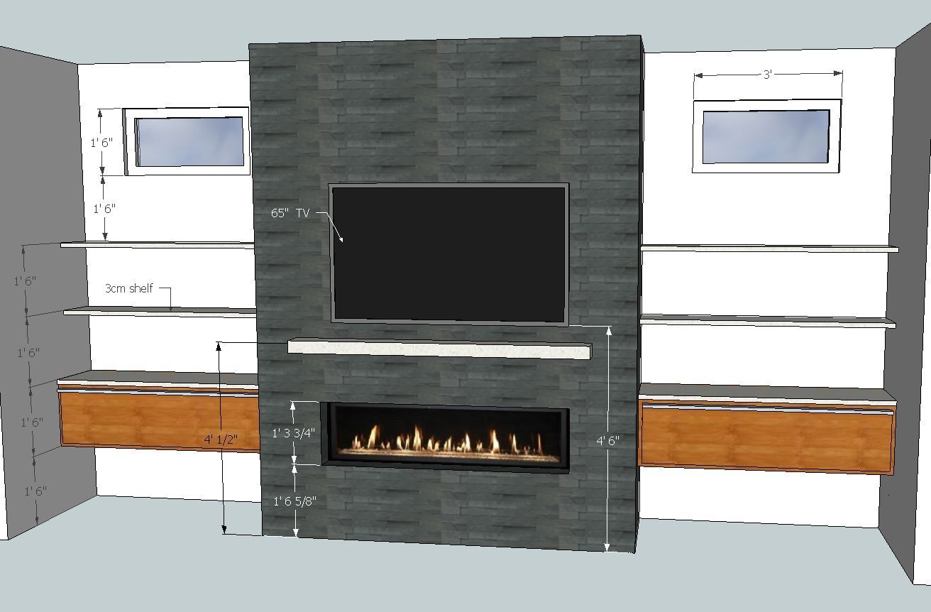6 Ft Fireplace Mantel What Is The Recommended Height From The Floor To Mount A Gas