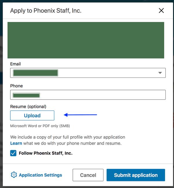 how do i upload my resume on linkedin jobs