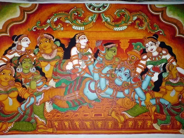 Lord Krishna With Gopis 3d Wallpaper What Are Some Examples Of Hindu Art Quora