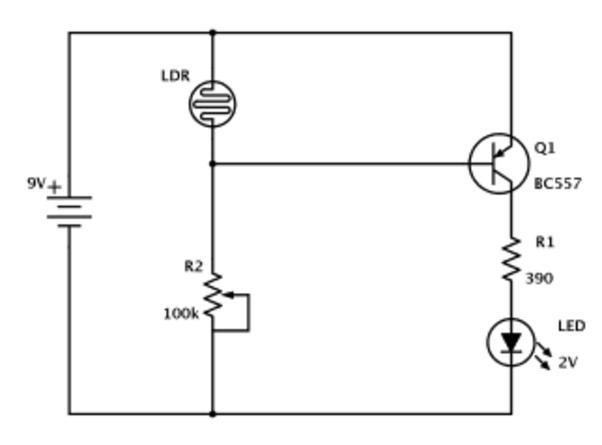 circuit diagram of street light using ldr