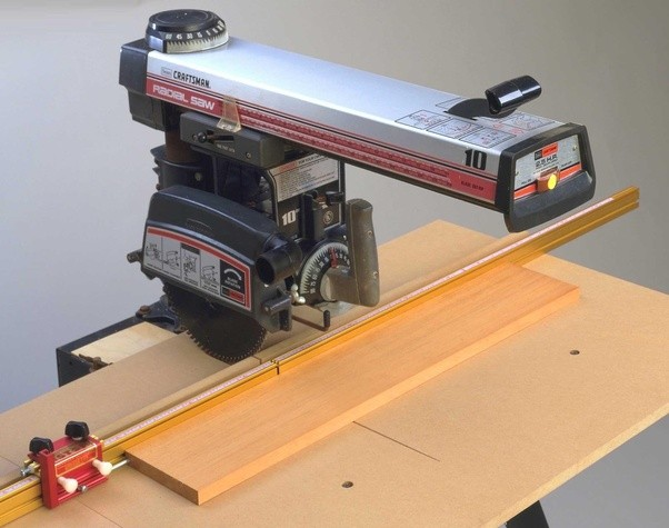 Why Is A Radial Arm Saw Table Constructed In 3 Pieces Quora