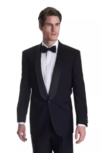 Is a black suit (as opposed to a tuxedo) adequate for a ...