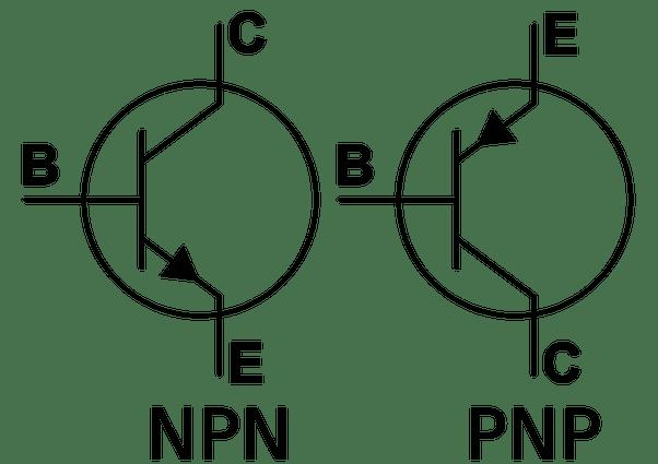 pnp transistor ledningsdiagram