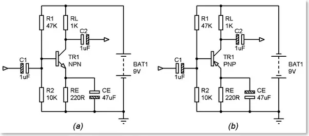 simple transistor circuit the circuit has the typical behavior of a